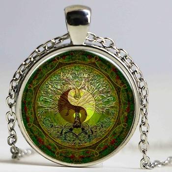 Κόσμημα πράσινο Μάνταλα yin και yang
