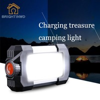 Outdoor Rechargeable Portable 27 LEDs Lantern Lamp Flasher Flashlight Lantern Light with USB Hook 10W 500LM Camping Tent Light