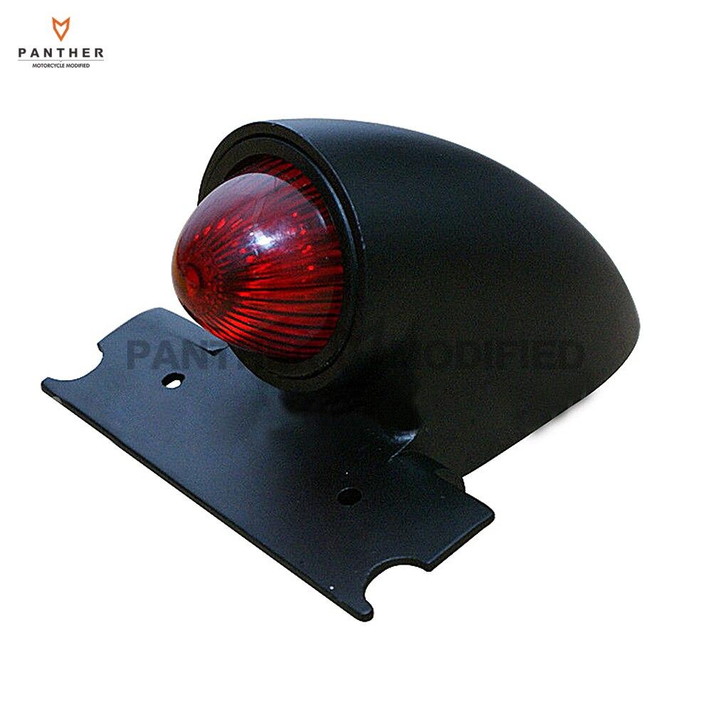 Black Sparto Retro Style Motorcycle Tail Brake Light Moto Rear Lamp case for Harley Bobber Chopper Custom