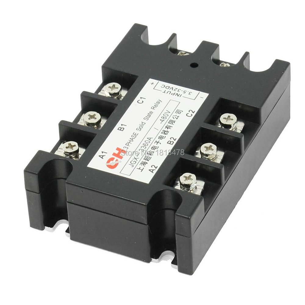 JGX-3360 3.5-32VDC Input 480VAC 60A Output DC/AC Three Phase SSR Solid State Relay jgx 3 4860z 60a 40 480vac 4 32vdc dc to ac three phase solid state relay ssr relay free shipping