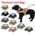 Outdoor Protection Tactical Dog Vests Military Dog Clothes Load Bearing Harness SWAT Dog Training rescue tatico1000D Nylon Vest
