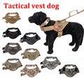 Proteção ao ar livre tático coletes à prova de cão cão roupa militar cinto de suporte de carga SWAT Dog Training resgate tatico1000D Nylon colete