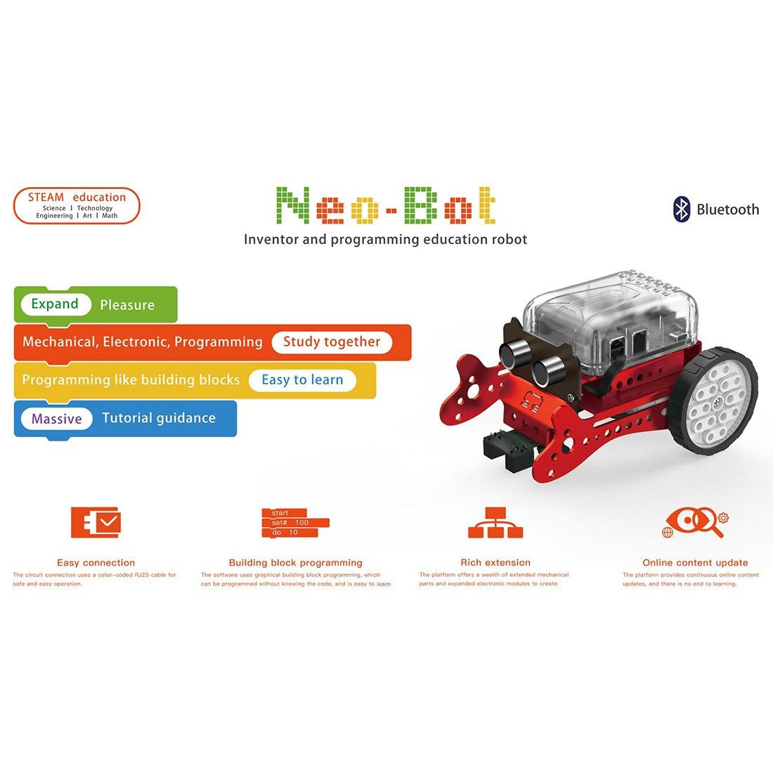 Surwish DIY Neo Программирование царапин Интеллектуальный избегание препятствий автомобиля Робот комплект-красный/зеленый