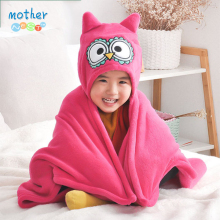 Mother Nest Baby Hooded Blanket 75x100cm Colar Fleece Kids T