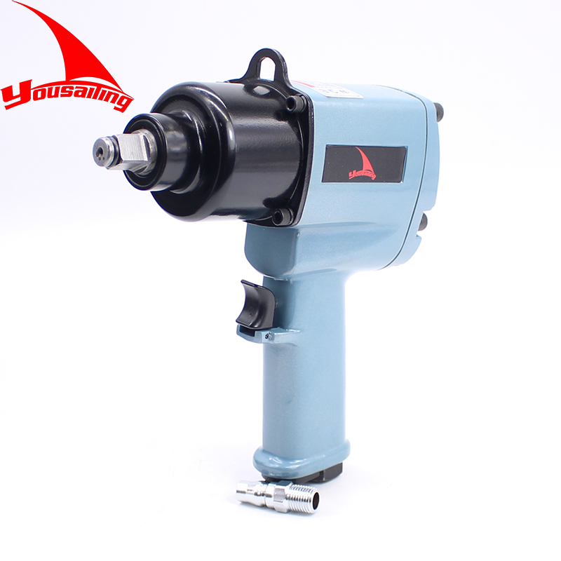 850Nm Heavy Duty Twin Hammer Handle Exaust Industrial 1/2 Inch Air Impact Wrench Pneumatic Wrench