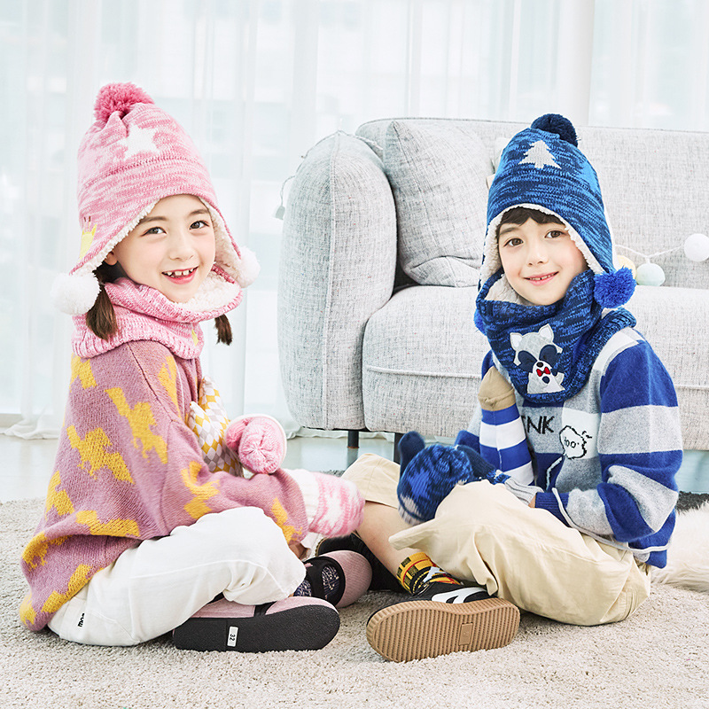 544b25f4 Kocotree Autumn Winter Children's Caps Kids Warm Knitted Hat with Scarves  Mittens Hot Sell for 1 10 Years Old Boys Girls Hat Set-in Scarf, Hat &  Glove Sets ...