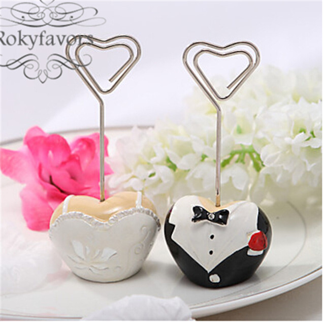 Wedding Place Card Holder Ideas: FREE SHIPPING 24PCS Wedding Decoration Bride And Groom