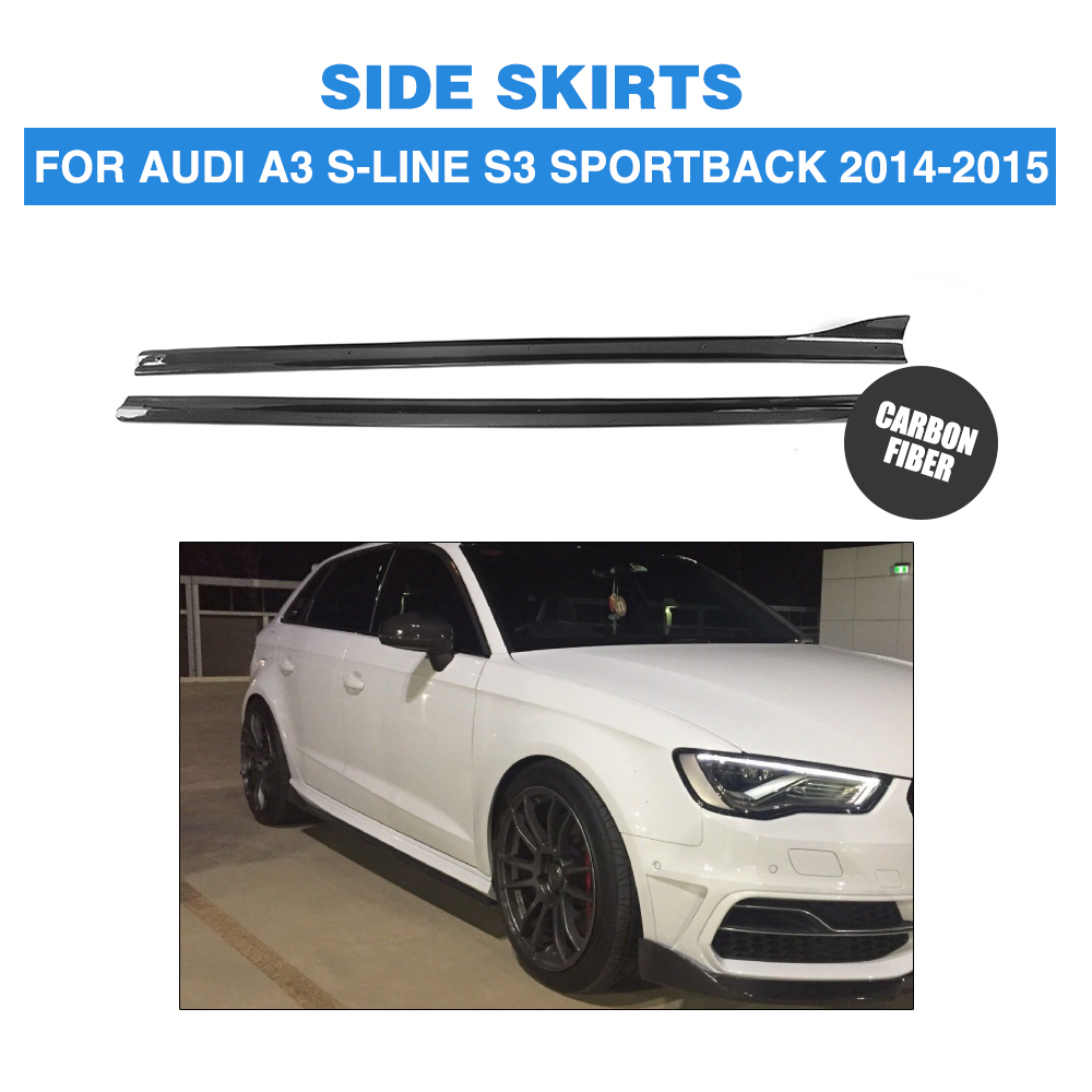 Carbon Fiber Auto Side Skirts Aprons Chin Kit Guard For