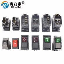 KELIMI автомобильный-Стайлинг Модифицированная клавишная кнопка переключения универсальный двигатель стоп+ larme/вентилятор/мощность/стеклоочиститель/противотуманная фара переключатель с кабелем