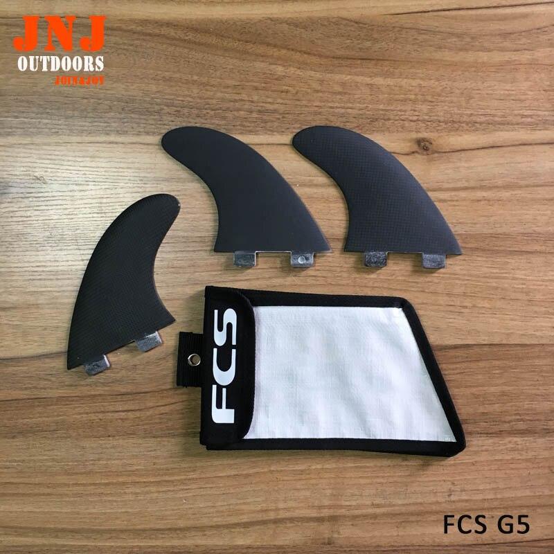 Nouveau PLEIN carbone surfboard fin propulseur/fcs ailettes/ailerons de surf/fcs G5 (3 pcs) plus léger avec sac