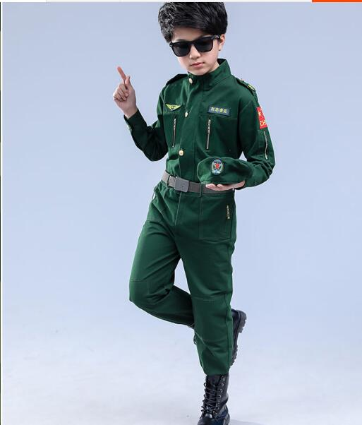 Free shipping!!Children's clothing pilot costumes for Halloween Children role-play spacesuits The policeman clothing