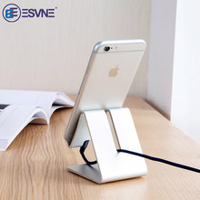 ESVNE Aluminum Metal Mobile Phone Holder For iPhone Samsung iPad Desk Stand holder Support tablette for cellular no car Porta(China)
