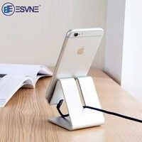 ESVNE aluminium métal support pour téléphone Mobile support de bureau pour iPhone 8 X XS XR Samsung iPad support universel tablette bureau