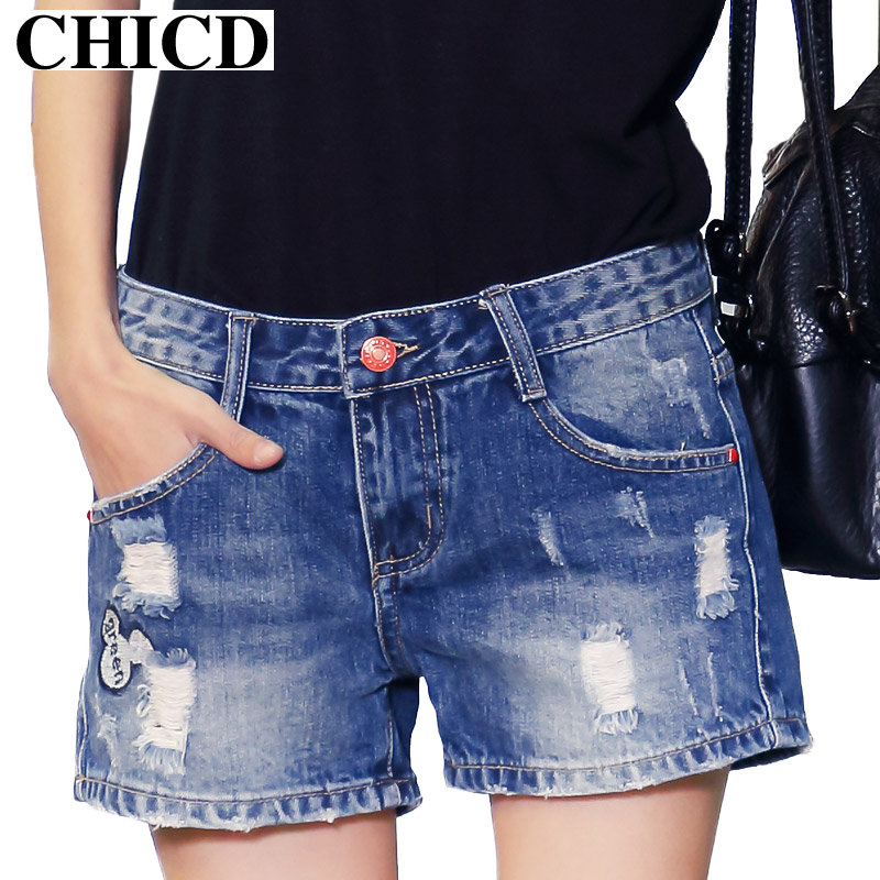 Womens High Waisted Denim Mid Length Shorts Promotion-Shop for ...