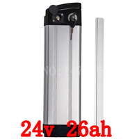Bottom Discharge 700W Lithium Battery 24V 26AH Electric Bike Battery Use Samsung 2600mah Cell With 2A