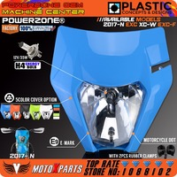 POWERZONE TLD Flu Blue Limited Edition Motorcycle Headlight Headlamp For KTM EXC XC W SX F