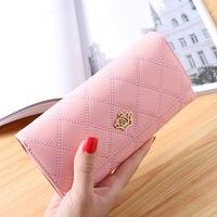 Card Wallet Women Purse Phone Clutch Bank Card Cash Purse Fashion Crown Logo Female Birthday Gift