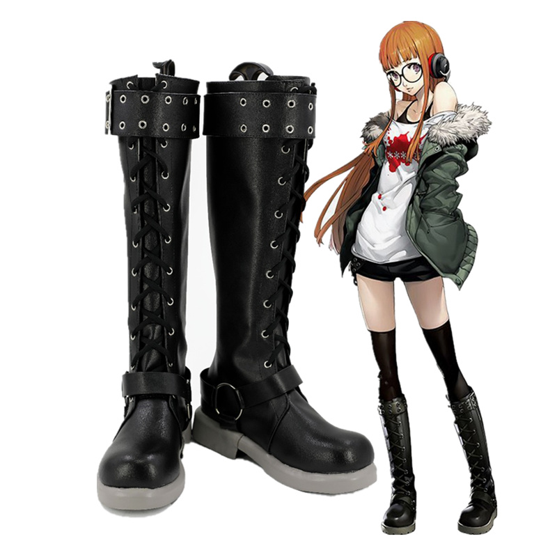 Anime Persona 5 Schuhe Futaba Sakura Cosplay Stiefel Nach maß
