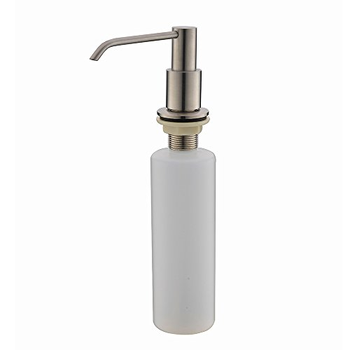2018 New Wholesale Modern Solid Brass Brushed Nickle Kitchen Sink Countertop Liquid Dish Hand Soap Dispenser Pump Replacement