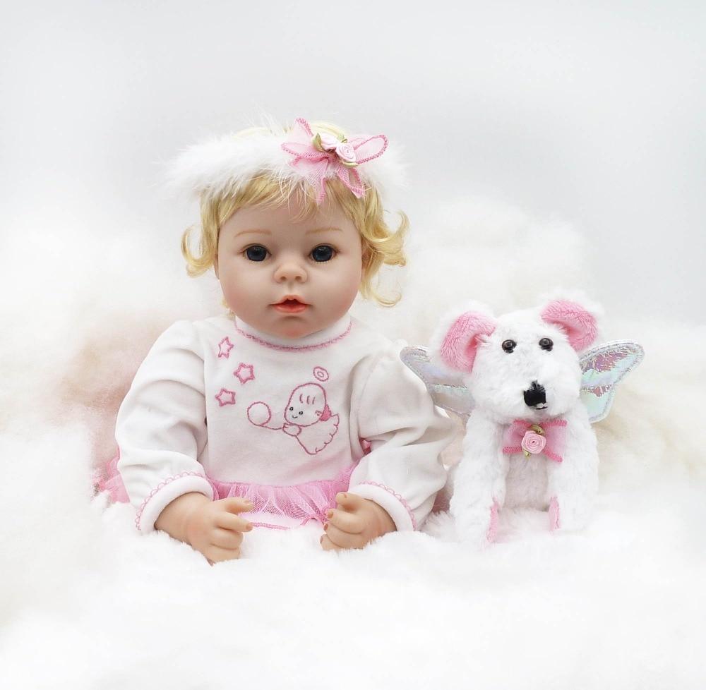55 cm Silicone souple Reborn bébé poupée jouets comme réel ange nouveau né princesse bambin poupées avec accessoire beau cadeau d'anniversaire-in Poupées from Jeux et loisirs    2