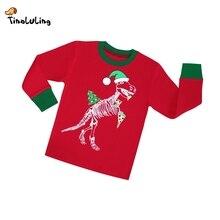 2-8 years children christmas dinosaur pajamas sets