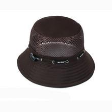 2018 New Fishing Caps Sun Hat Cotton Mesh hats Fisherman Bucket Hats Large  Brim Chapeau Summer 584950a32fde