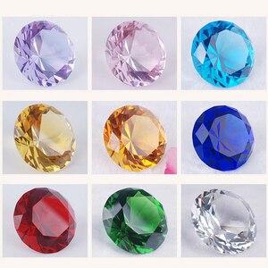 Image 2 - 30mm 다채로운 크리스탈 다이아몬드 행복 한 생일 웨딩 장식 이벤트 파티 용품 홈 장식 액세서리 장식품