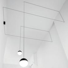 Post-modern DIY Geometric Lines String Light Led Pendant For Living Room Dining Bedroom 1/2 Heads