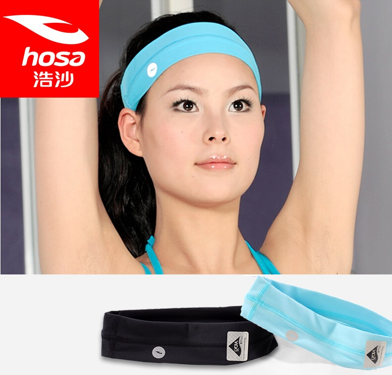 Hosa sports headband yoga sweat absorbing belt Women bandanas hair accessory tenfolds