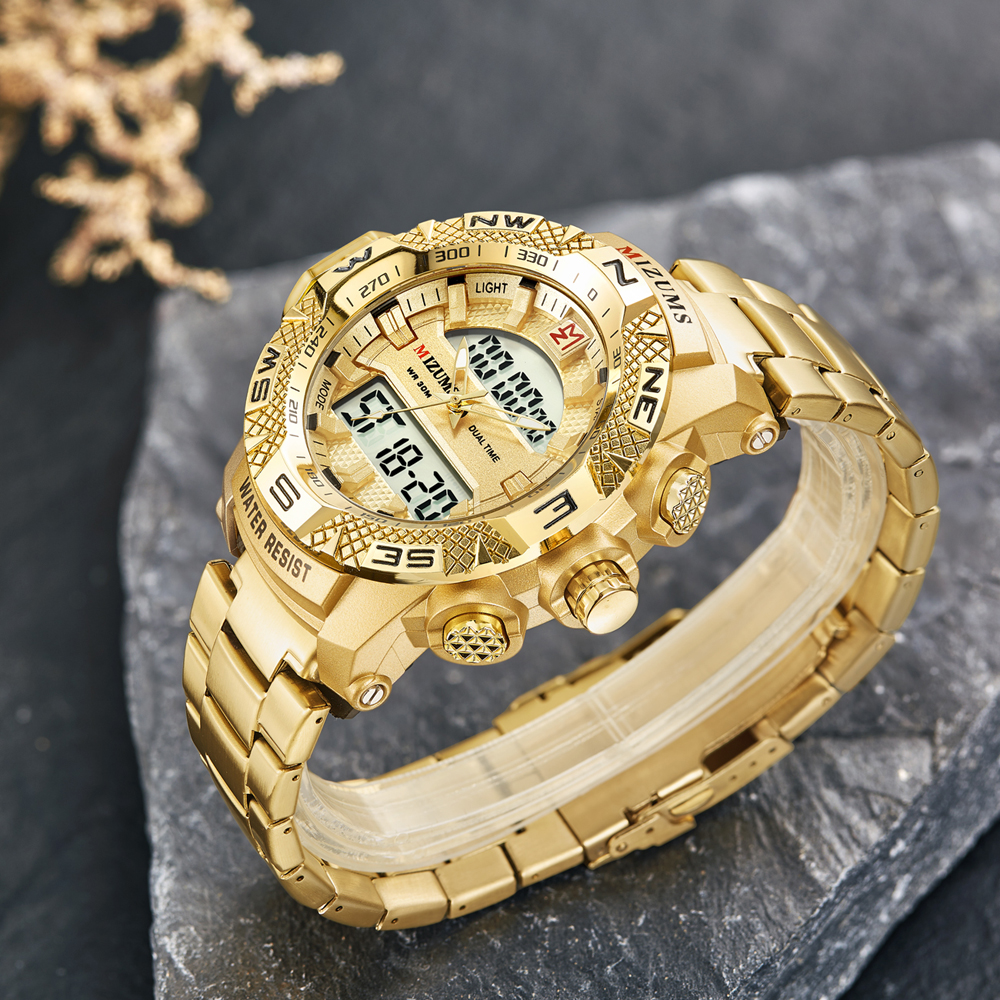 wholesale Military Watches Men Luxury Brand Full Steel Watch Sports Quartz Multi-function LED Waterpoof Gold Wristwatch Relogio Masculino 2019 drop shipping (24)
