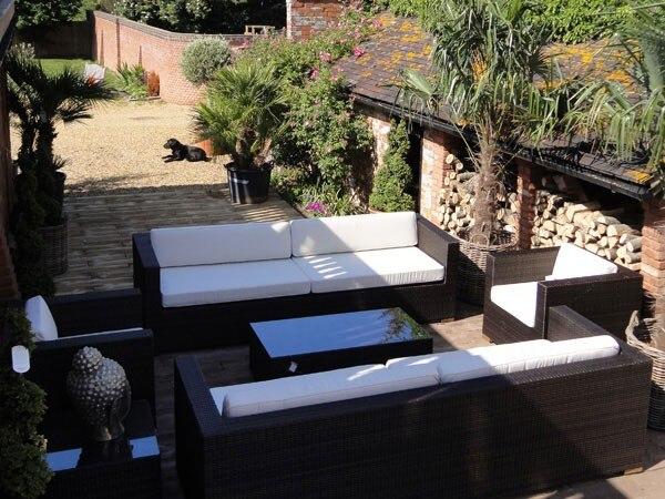 Heißer Verkauf Allwetter Outdoor Möbel Rattan Couch Sets Moderne Terrasse  Liege