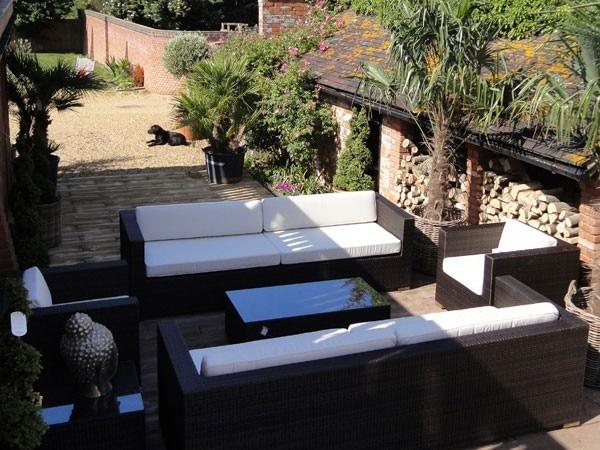 Vendita calda all weather mobili da giardino rattan divano set