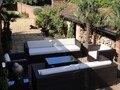 Venta caliente todo el tiempo al aire libre muebles de ratán sofá sets moderno patio tumbona