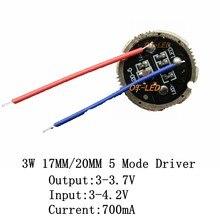Pilotes cree/XPE/XBD, 17mm, 20mm, 700ma, 5 modes, pour lampe de poche 3W, émetteur à Diode, 1 pièce, 5 pièces