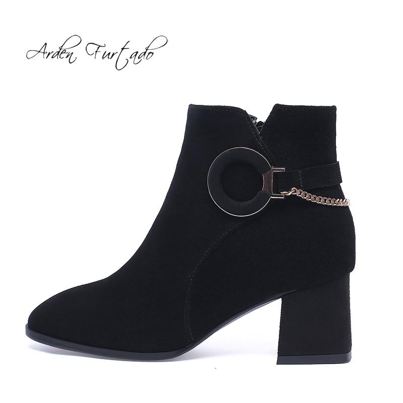 43 long Grande Short Chaussures Bottes D'hiver 42 Noir De Mode Élégant Black Haute Black Bout Genou Taille Femmes Chaînes Sexy Dames 41 Pointu 2019 Zipper x1gwgRaA