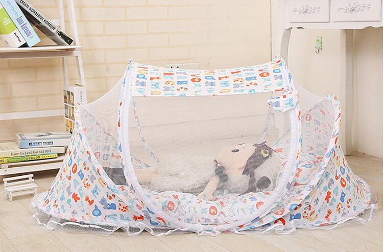 capa dobrável bebê mosquiteiros tenda cama colchão