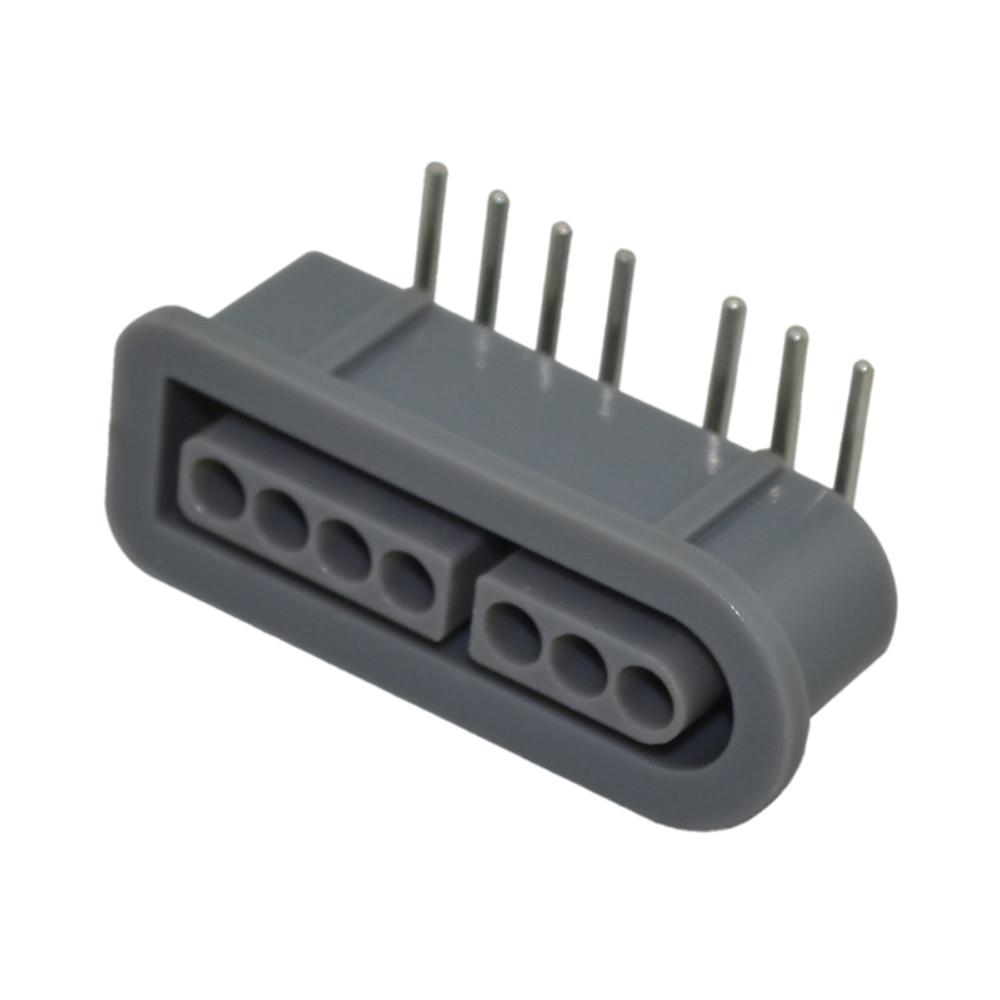 MOQ 200pcs meget Udskiftning 90 graders kvindelige 7 Pin stikdel for SNES controller stikkontakt