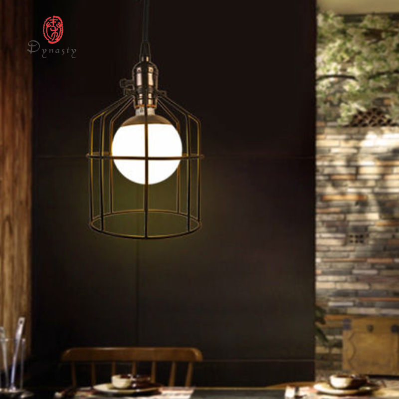 Art Decoration Fashion Fancy Hanging Lamp Pendant Light Iron Retro Cafe Restaurant Pub Hotel Lounge Droplight Dynasty Free Ship art deco vintage industrial metal wire cage pendant light guard rustic ceiling mounted lamp cafe pub hotel porch bar