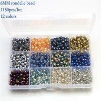 Boxed Sets Perlen DIY Mischfarbe Kristallglas Perlen Schmuck Zubehör Erkenntnisse für DIY Modeschmuck Charmante Halsketten