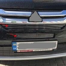 Для Mitsubishi Outlander 3 шт. алюминиевый сплав Передняя решетка решетки отделка