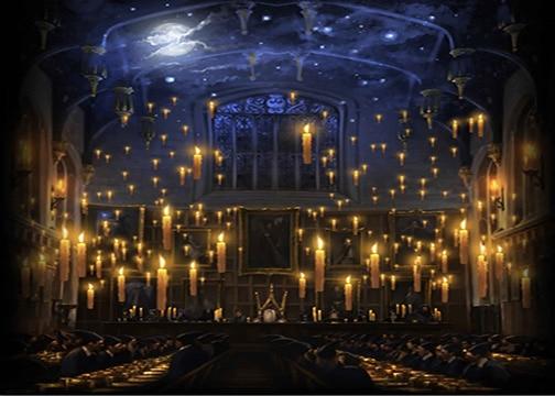 Hogwarts Candele Chiesa Pranzo Sala Sfondo Vinile Stampa Bambini Bambini Fondali Panno Di Computer Di Alta Qualità