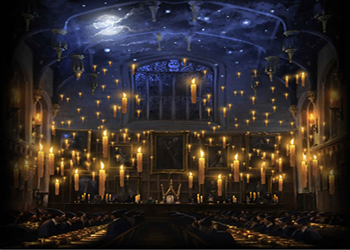 Hogwarts Candles Church Lunch Hall Background Vinyl Cloth