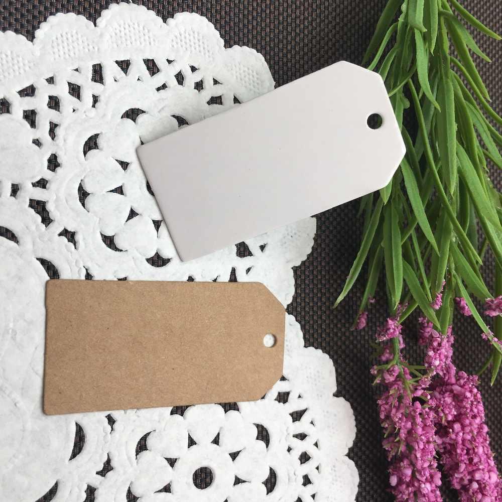 100 Uds. Papel Multi-estilo joyería embalaje precio etiquetas, cajas de regalos etiquetas joyería de etiqueta colgante tarjetas de papel para pendientes/Collar