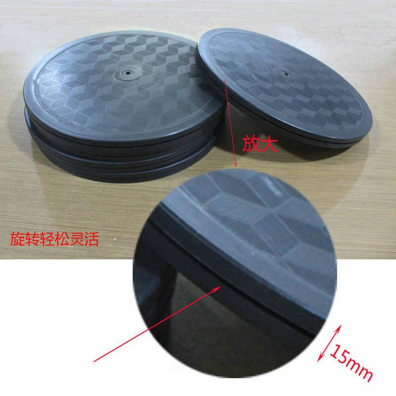 WM 25 см/10 дюймов двухсторонний дисплей стенд поворотная пластина база Противоскользящий квадратный узор пластиковый вращающийся поднос для приправ для керамики DIY