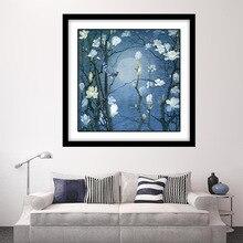 Diy 5d full diamond painting cross stitch Diamond mozaik Plum blossom flowers Embroidery mosaic paintnig flower