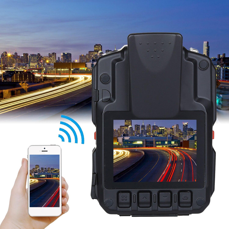 Boblov wifi câmera da polícia 64 gb f1 corpo kamera 1440 p câmeras desgastadas para aplicação da lei 10 h gravação gps visão noturna dvr gravador - 3
