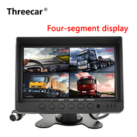 7 Dual Display Built in Quad Combination LCD Car Monitor 4CH Video Input Style Parking Dashboard for Truck Car Rear View Camera