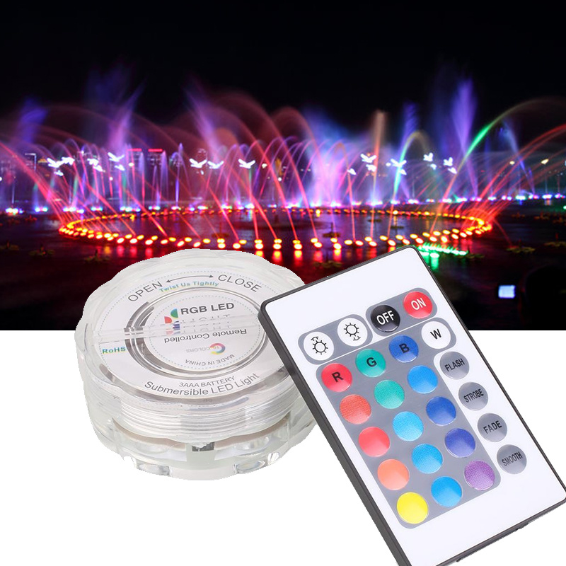 Lights & Lighting Led Underwater Lights 10 Leds Rgb Submersible Lamp Multi Color Ip68 Waterproof Swimming Pool Light With Remote For Aquarium Pond Wedding Party