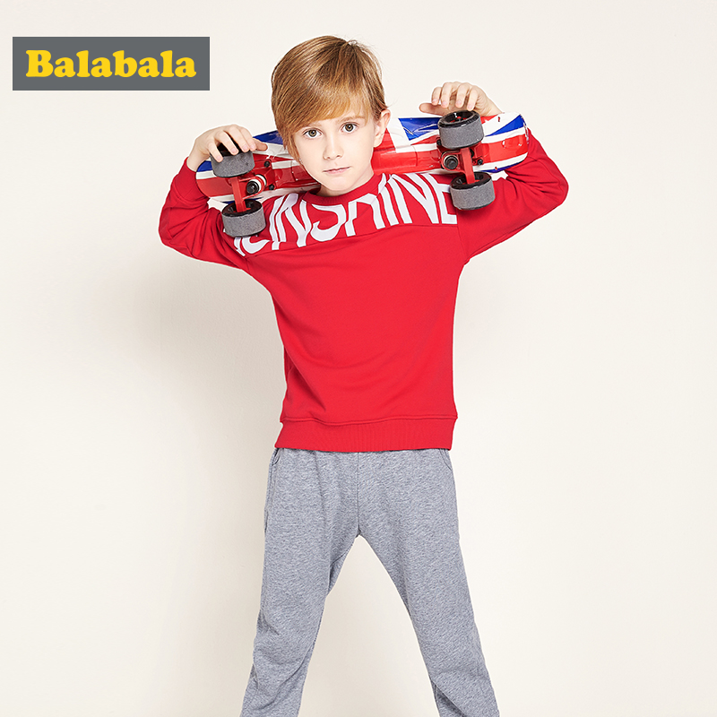 balabala Spring Children boys tracksuit Clothing Set Brand causal kids Sports Suit Tracksuits hoodies+Pants Baby Boys Clothes se spring children girls clothing set brand cartoon boys sports suit 1 5 years kids tracksuit sweatshirts pants baby boys clothes