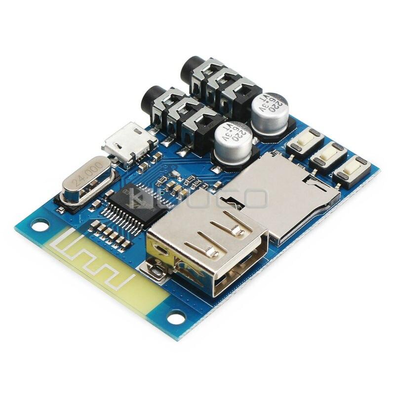 Многофункциональный <font><b>Bluetooth</b></font> Аудио Приемник DC 5 В USB/SD/WMA/WAVFLAC Декодирования MP3 Стерео Музыку Приемника Доска AUX Усилителя DIY
